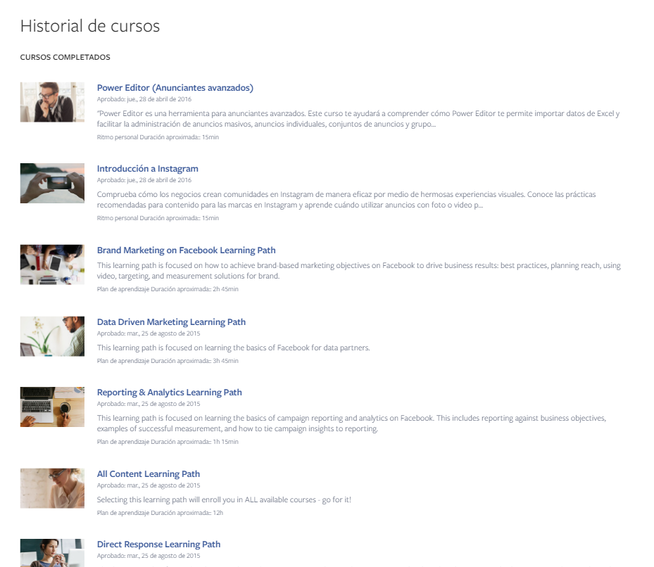 facebook blueprint certificados