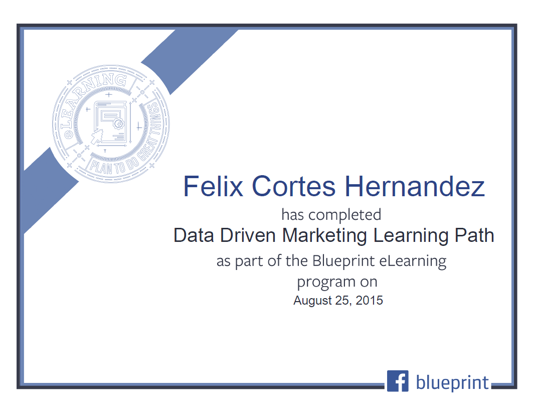 felix cortes hernandez certificado facebook blueprint