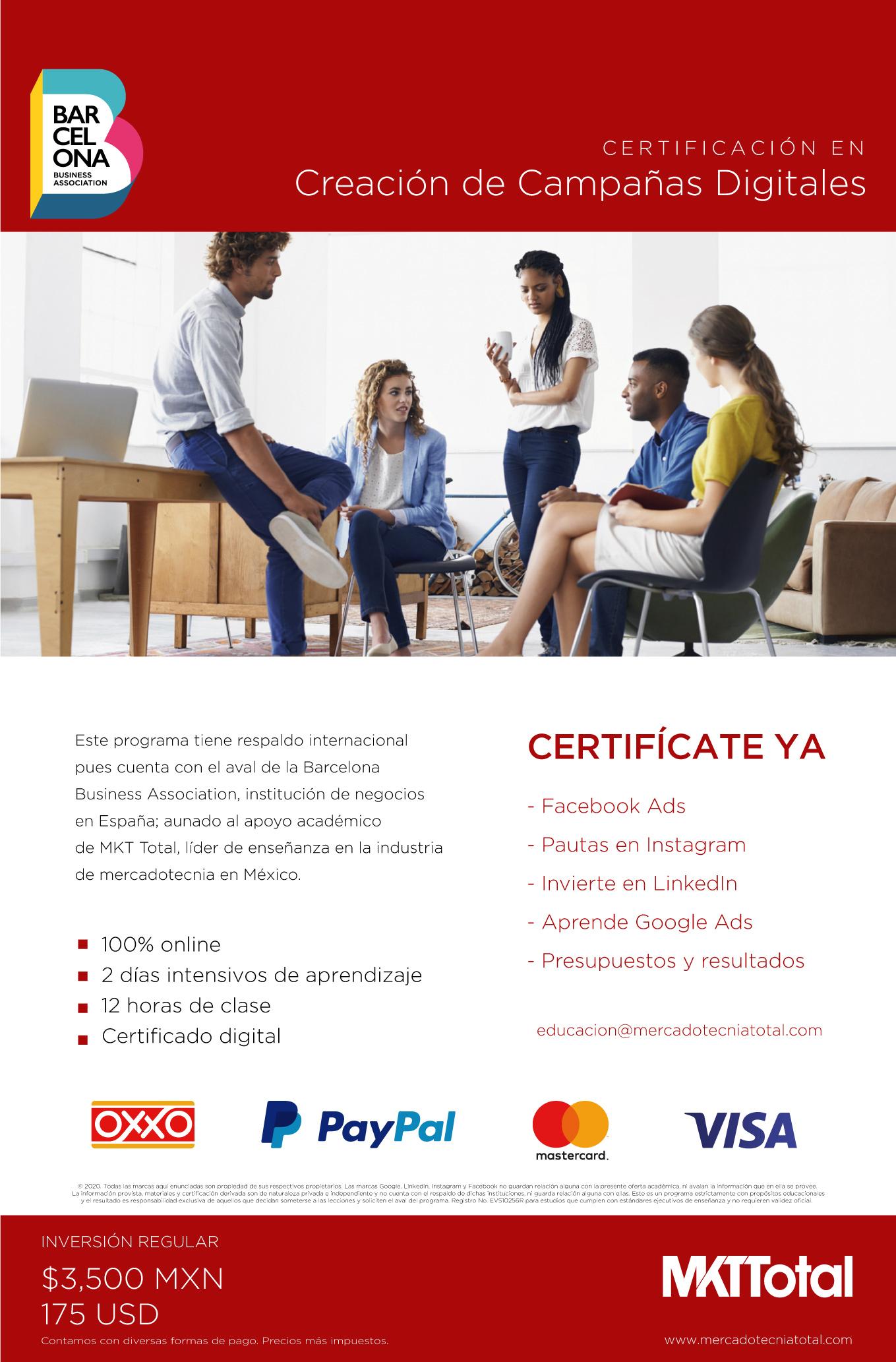 Certificación en desarrollo de negocios en linea & ecommerce